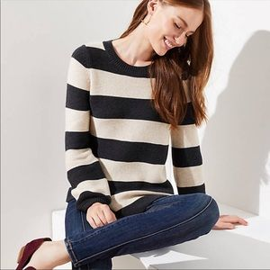 LOFT Striped Swing Sweater